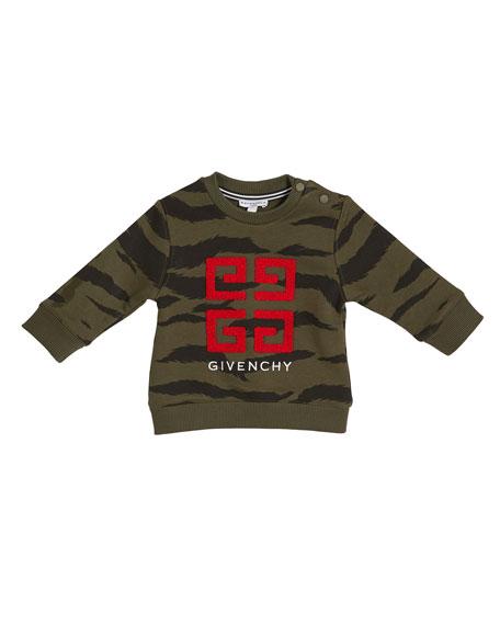 Boy's 4-G Logo Camo Sweatshirt, Size 12M-3