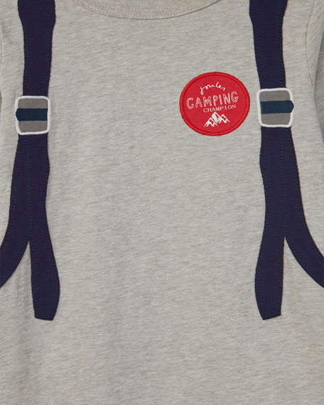 Animate Trompe l'oeil Backpack Long-Sleeve Tee, Size 2-6