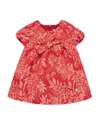 Girl's Leaf Jacquard Dress  Size 2-6