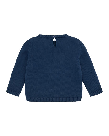 Penguins Intarsia Sweater, Size 12M-3