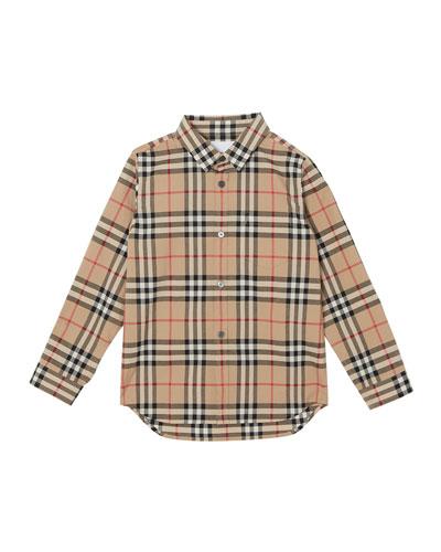 Fredrick Long-Sleeve Check Shirt  Size 3-14