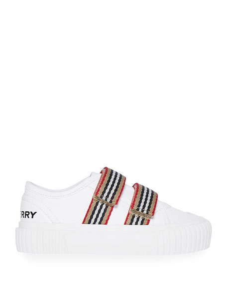 Ray Striped Grip-Strap Low-Top Sneakers, Baby/Toddler