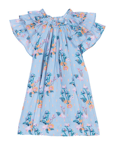 Opal Frill Sleeve Floral Dress  Size 3-24 Months