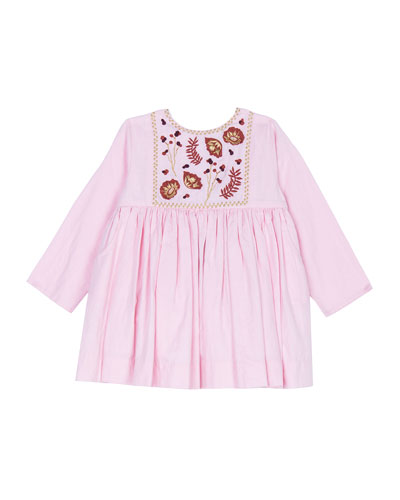 Camille Embroidered Shirred Dress  Size 3-24 Months