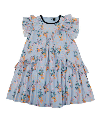 Tess Floral Flare Dress  Size 8-12
