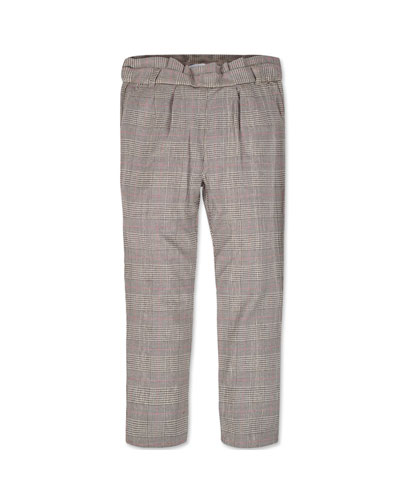 Girl's Straight Leg Plaid Pants  Size 8-16