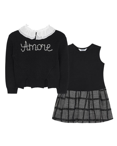 Girl's Convertible Amore Dress, Size 4-7