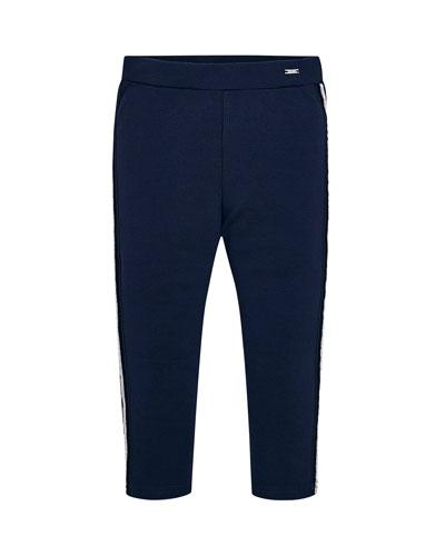 Girl's Side Stripe Leggings  Size 4-7