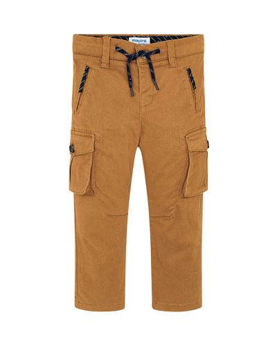 Boy's Chino Cargo Pants  Size 4-8