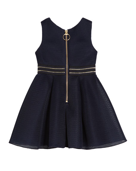 Hey Girl Perforated Knit Sleeveless Dress, Size 4-6X