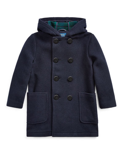 Edale Double-Breasted Wool Peacoat  Size 5-7