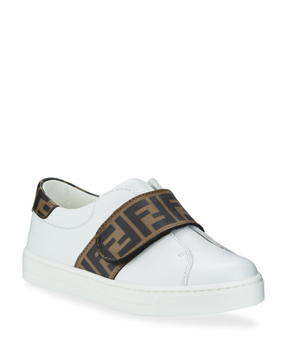 FF Trim Leather Low-Top Sneakers  Toddler
