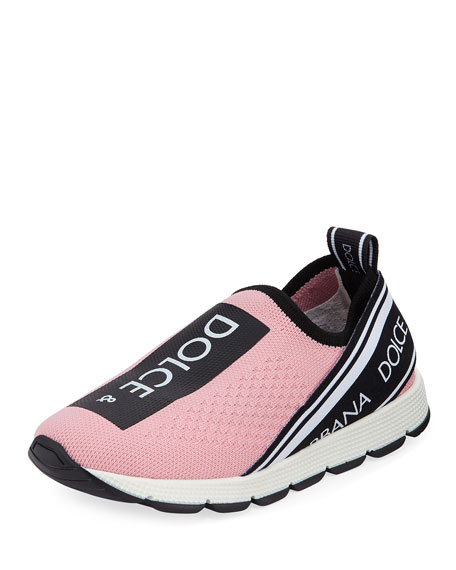 Image 1 of 1: Maglina Slip-On Knit Logo Sneakers, Kids