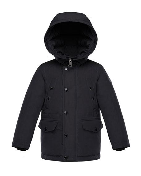 Salagou Logo-Back Hooded Jacket, Size 8-14