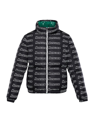 Neal Logo-Text Puffer Coat  Size 8-14