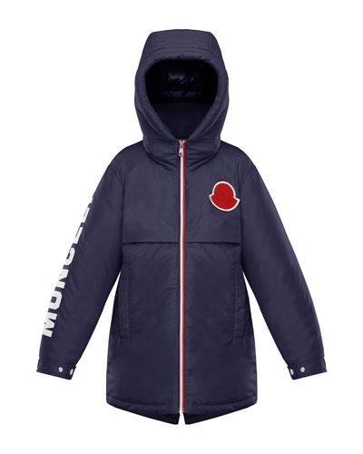 Airon Hooded Logo-Sleeve Coat  Size 4-6