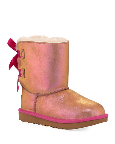 Bailey Bow II Shimmer Suede Boots  Kids