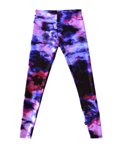 Girl's Blurred Lines Printed Leggings  Size S-XL
