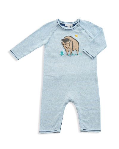 Bison Intarsia Cotton Coverall  Size 0-12 Months