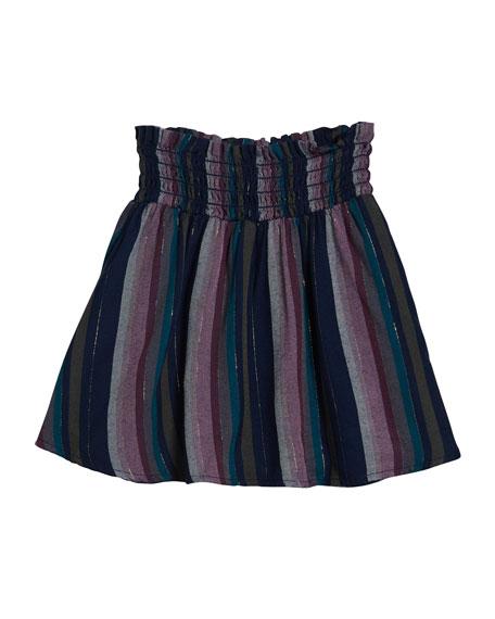 Girl's Stripe Flared Skirt, Size 8-14