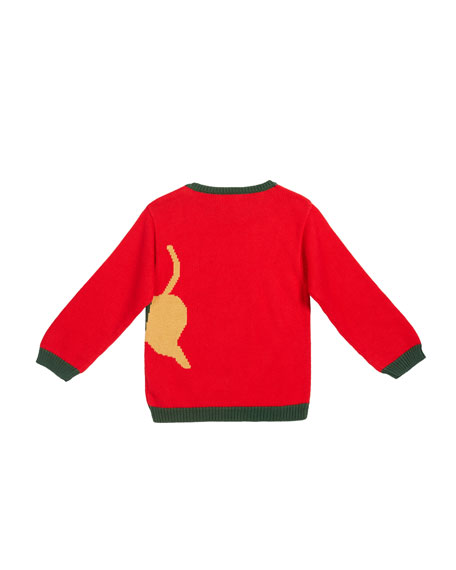 Boy's Holiday Tiger Sweater, Size 12M-7