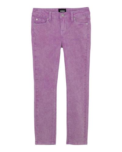 Girl's Acid Wash Corduroy Skinny Ankle Jeans  Size 7-16
