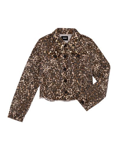 Girls' Jungle Studded Denim Jacket  Size S-XL