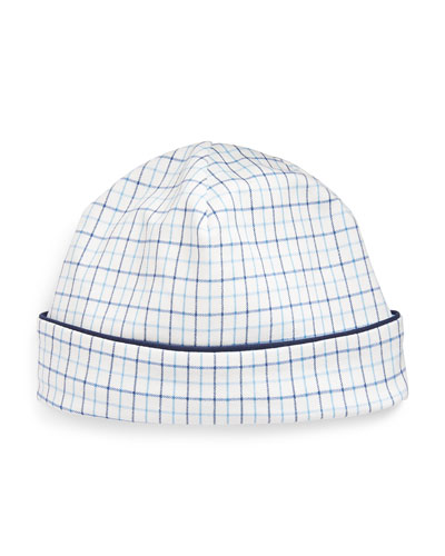 Cotton Interlock Plaid Baby Hat