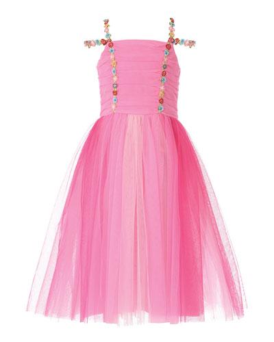 Girl's Pink Princess Tulle Dress  Size 2-6