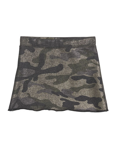 Girl's Metallic Camo Skirt  Size S-XL