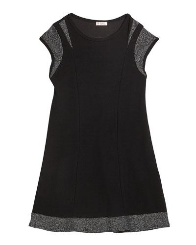Girl's The Demi Lurex Trim Dress  Size S-XL