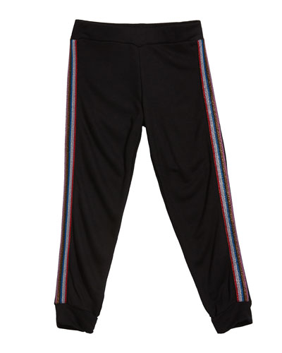 Girl's Sweatpants w/ Metallic Taping  Size S-XL