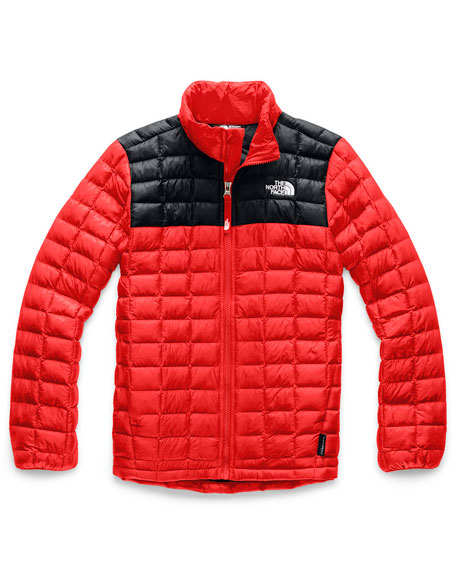 Boy's Quilted ThermoBall Stand Collar Jacket, Size XXS-XL