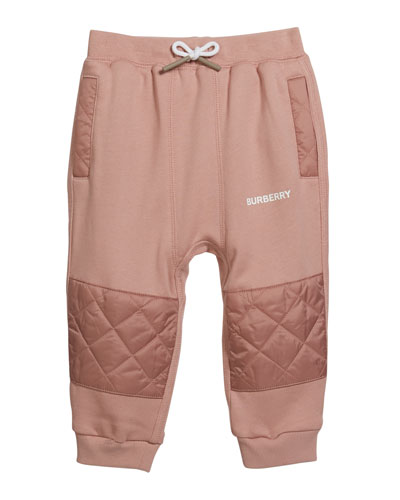Girl's Mio Drawstring Sweatpants w/ Quilted Insets  Size 12M-2