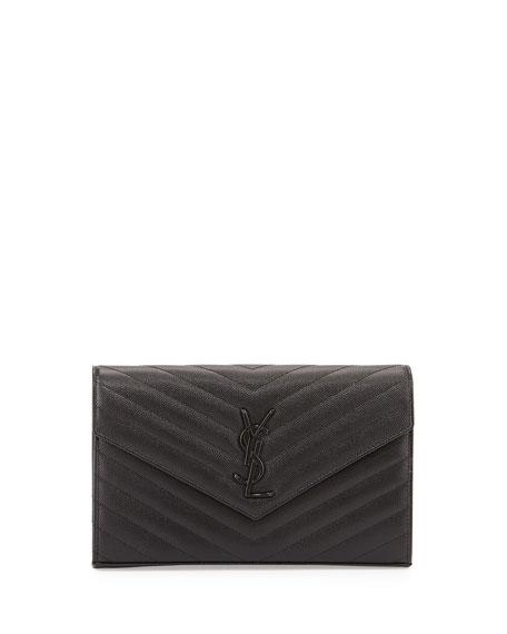 Monogram Matelasse Wallet-On-A-Chain Bag, Black