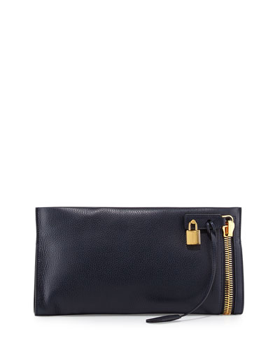 Alix Padlock East-West Clutch Bag