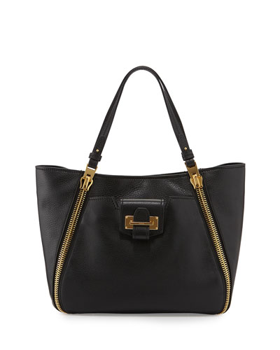Sedgwick Small Double-Zip Leather Tote Bag