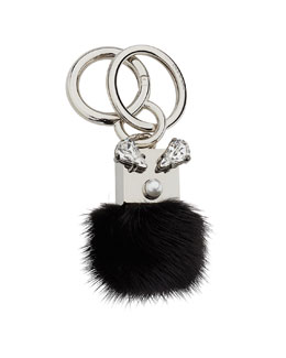 Mink Fur Crystal Key Chain