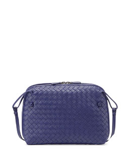 Small Pillow Woven Crossbody Bag
