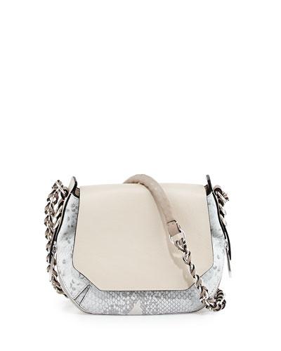 Bradbury Mini Python-Embossed & Leather Bag