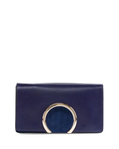 Gabrielle Leather Clutch Bag