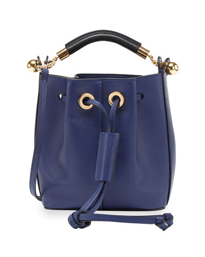 Gala Small Leather Bucket Bag