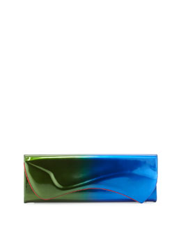 Pigalle Patent Degrade Clutch Bag