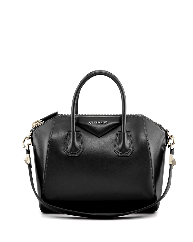 Antigona Small Box Calf Leather Satchel Bag, Black by Bergdorf Goodman