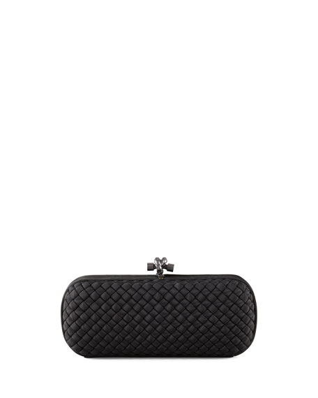 Bottega Veneta Woven Faille Large Knot Clutch Bag,