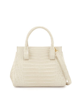 Small Crocodile Top-Handle Tote Bag