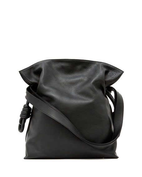 Loewe Flamenco Knot Small Bucket Bag, Black