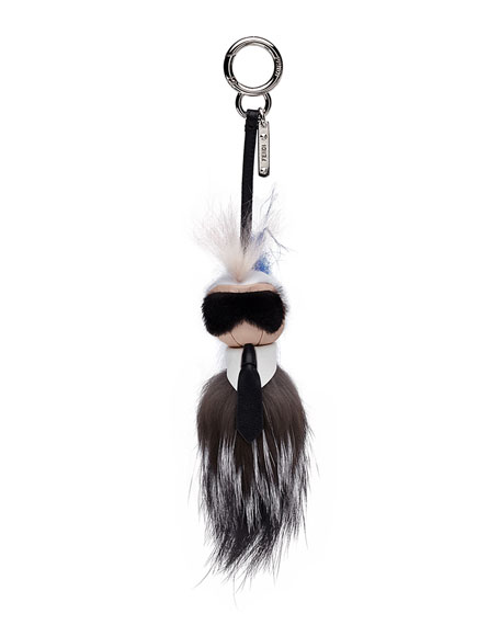 Image 1 of 1: Mini Karlito Fur Charm for Handbag