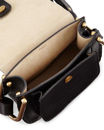 chloe red handbag - small hudson bag in smooth calfskin with suede calfskin tassel
