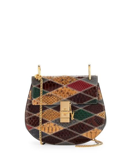 Drew Small Python Shoulder Bag, Multi